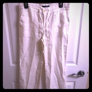 Ralph Lauren off white sz 2 petite pants linen